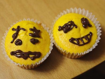 ハロウィンかぼちゃの豆乳カップケーキ01
