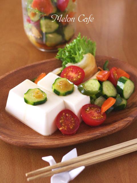 ジャーサラダで豆腐おかず