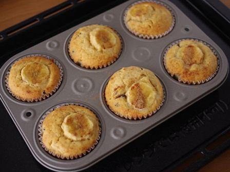 ホットケーキミックスでつくるバナナチョコの簡単カップケーキ05