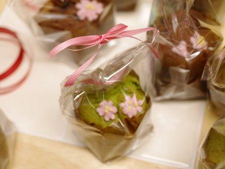 春の花カップケーキ抹茶とチョコ04