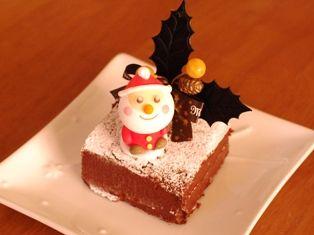 チョコレートガナッシュのクリスマスケーキ01
