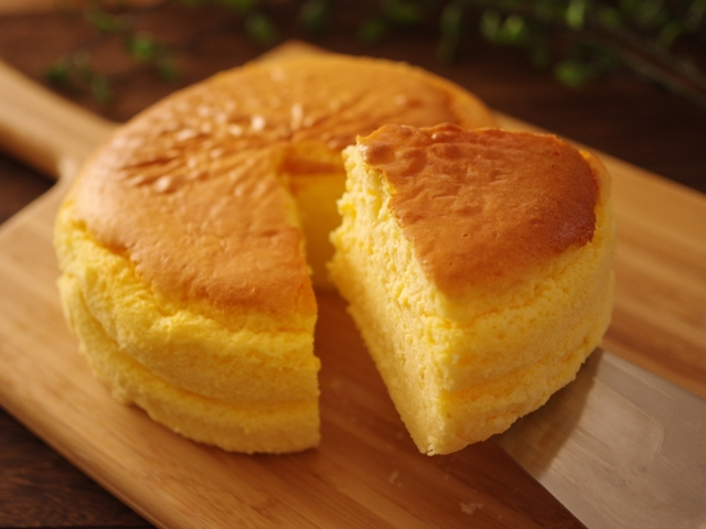 簡単シンプルなスフレチーズケーキ02