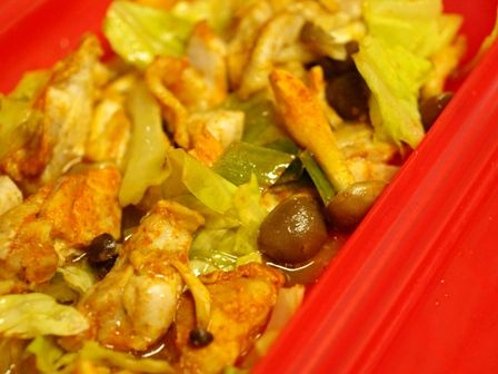 タンドリーチキンで、ご飯と一緒にパクパク野菜チキン