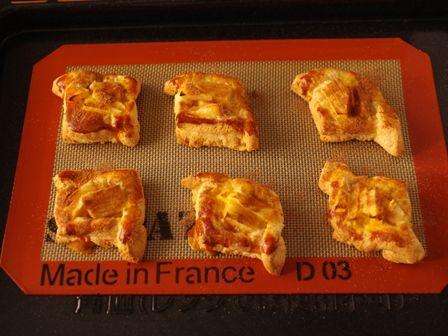 ホットケーキミックスで簡単デニッシュパンりんごシナモン10