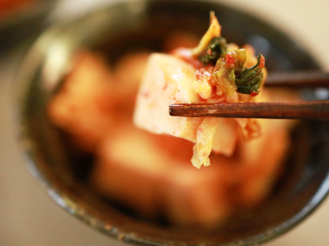 高野豆腐とキムチあえ01