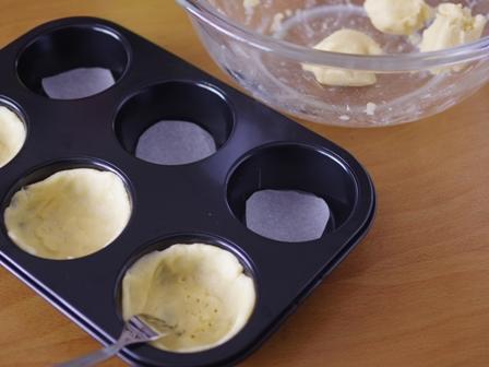 ホットケーキミックスの簡単タルト抹茶クリーム02