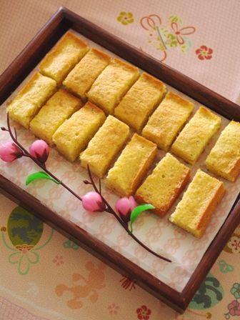 春のおうちパーティにしそ梅ミニケーキ