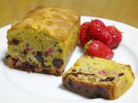 ベリーベリーのパウンドケーキ