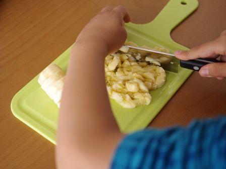 ホットケーキミックスでつくるバナナチョコの簡単カップケーキ02