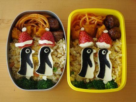 クリスマスペンギンの行進弁当