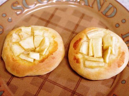 アップルのまんまるおやつパン