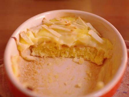 りんごのカスタードケーキd