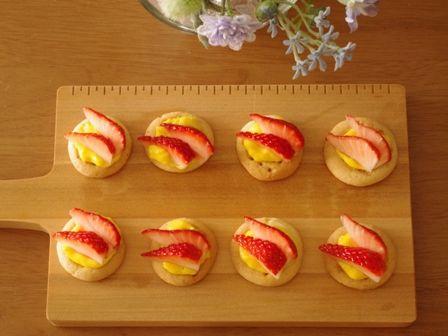 イチゴとマンゴーのフルーツタルトb