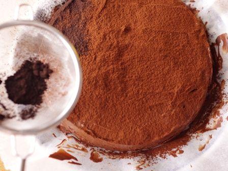 バレンタインの星空ケーキぎっしりチョコチップ08