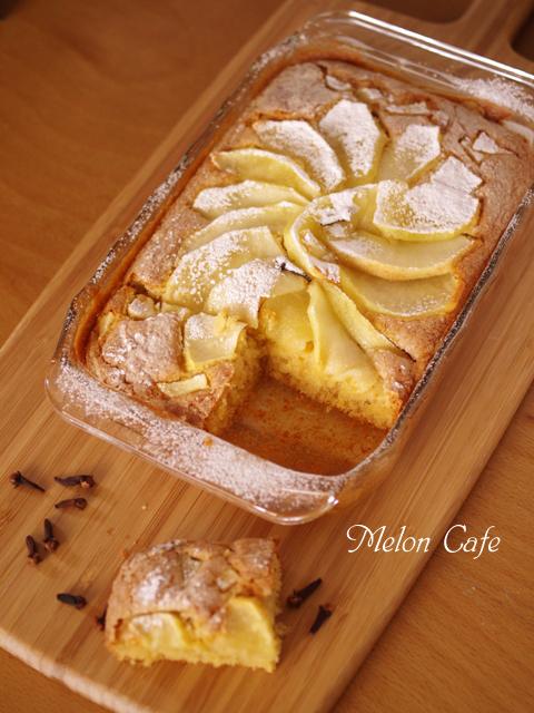 ホットケーキミックスで簡単クリスマスのりんごケーキ