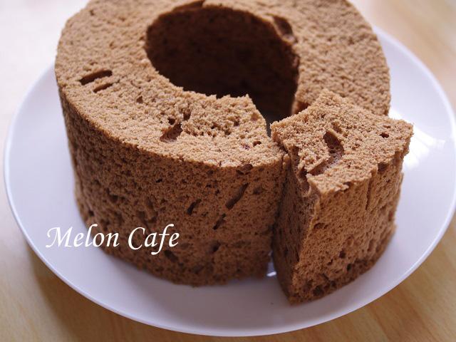 レンジとHMで簡単チョコレートシフォンケーキ03a