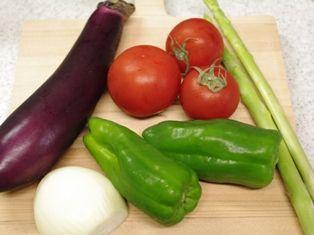 冷し中華お野菜たち