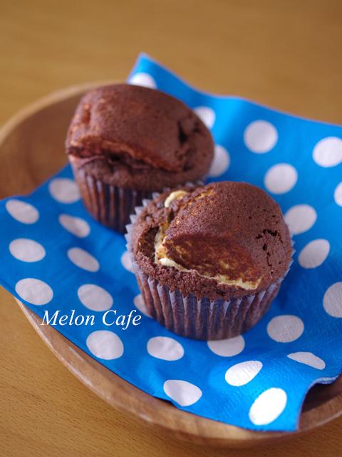 大きなマシュマロのおもしろ簡単チョコレートマフィン06