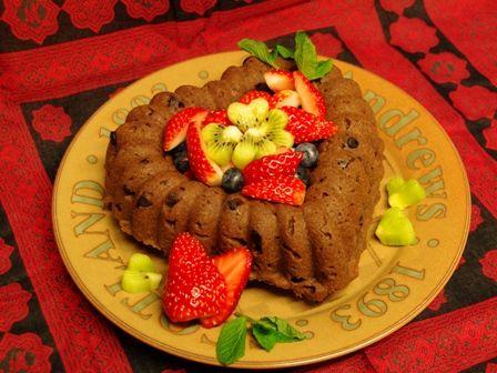 ダブルショコラのハートケーキ