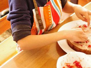 お兄ちゃん作クリスマスケーキ2012h