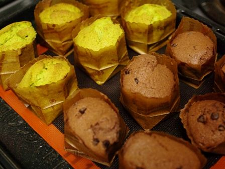 春の花カップケーキ抹茶とチョコ02