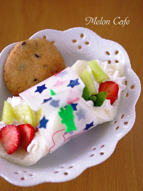 サンドシナイッチ改デザート風いちごとメロン01