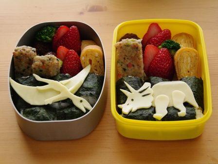 超簡単な恐竜のお弁当