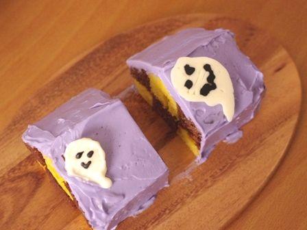 パウンドケーキでハロウィンハウス02