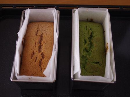 簡単パウンド生地でひなまつりの菱餅色ケーキ04