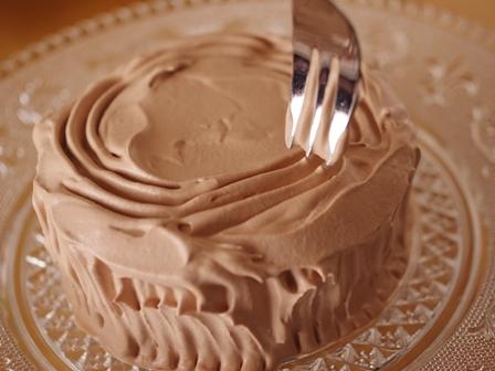 切り株チョコの簡単クリスマスケーキ06