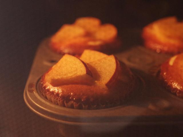 簡単りんごのバスクチーズケーキ12