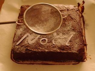 チョコレートガナッシュのクリスマスケーキ12