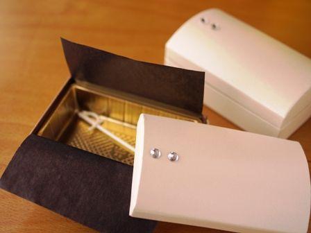 バレンタインラッピングチョコ箱キラキラレカン