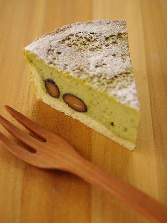 抹茶と黒豆のクリームチーズタルト11