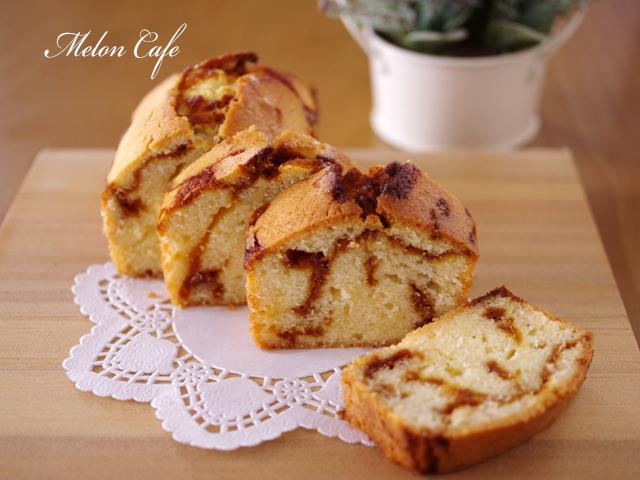 プリンパウンドケーキ