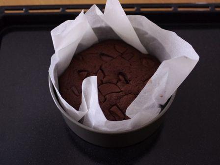 ズボラさんでもお洒落なクリスマスケーキ簡単手順のガトー・オ・ショコラチョコレートケーキ06
