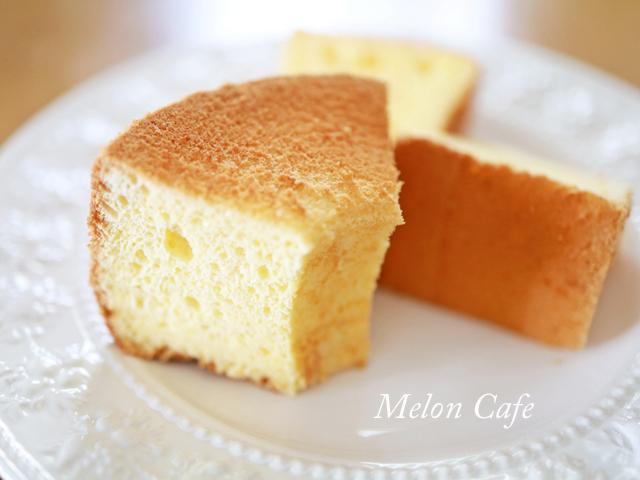 卵で簡単ふわしゅわシフォンケーキ