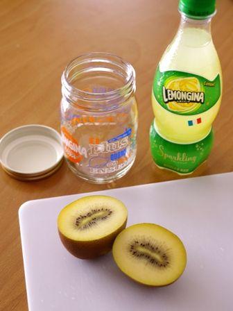 レモンジーナでつくるゴールドキウイでフルーツジャードリンク01