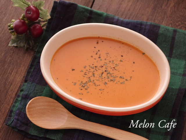 ハンブレで簡単時短パプリカとトマトのポタージュスープ10