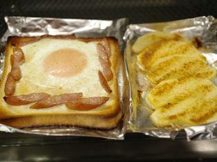 燻製風味のたまごトースト、ホットりんごシナモン05