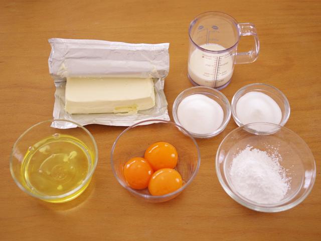 簡単シンプルなスフレチーズケーキ01