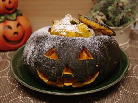 ジャックオーランタンのまるごとかぼちゃケーキ