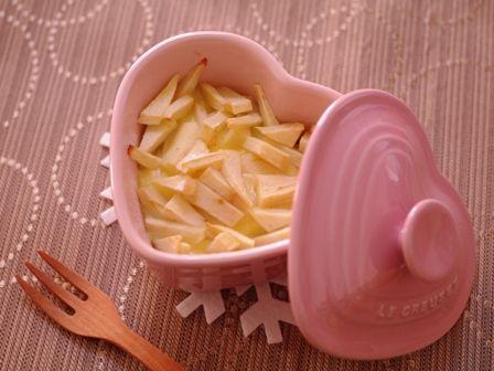 りんごのカスタードケーキ