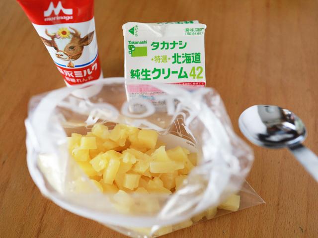パイナップル缶詰で手作りアイスクリーム02