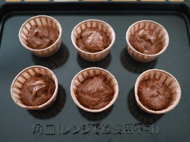 ホットケーキミックスと豆腐のココアマフィン07