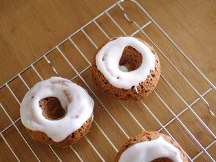 市販の板チョコで焼きドーナツ02