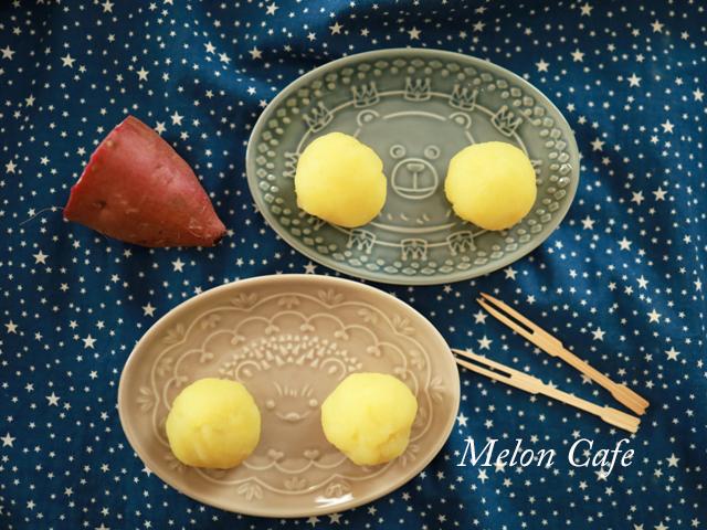 片栗粉とレンジで簡単芋蒸しようかん