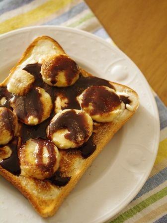 シナモンシュガーで贅沢トースト