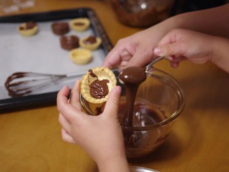 お菓子作り教室チョコレートガナッシュのタルト05