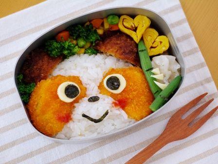 にっこりパンダフェイスのお弁当melonpan